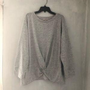 LOFT twist front sweatshirt top